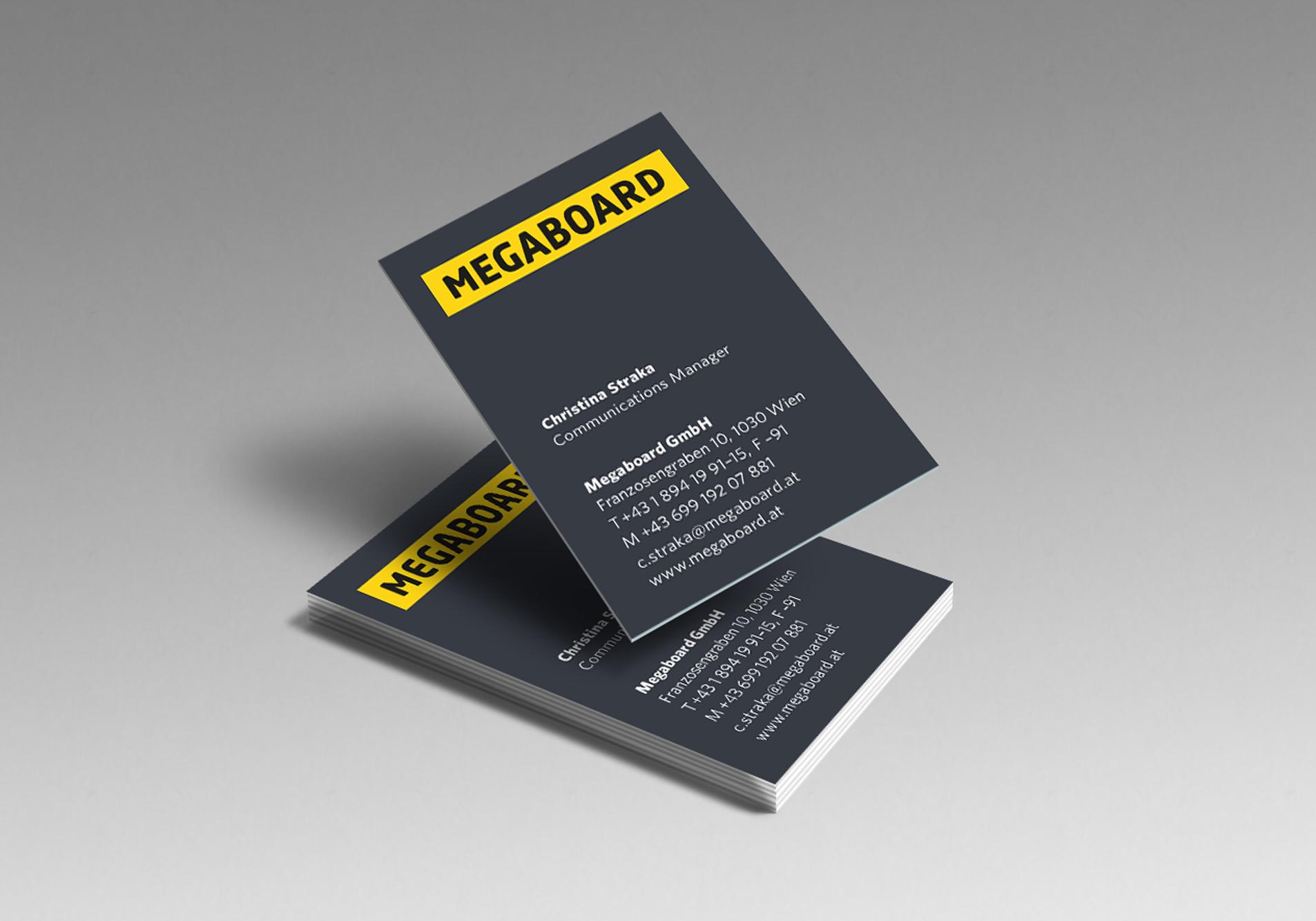 Megaboard Visitenkarten