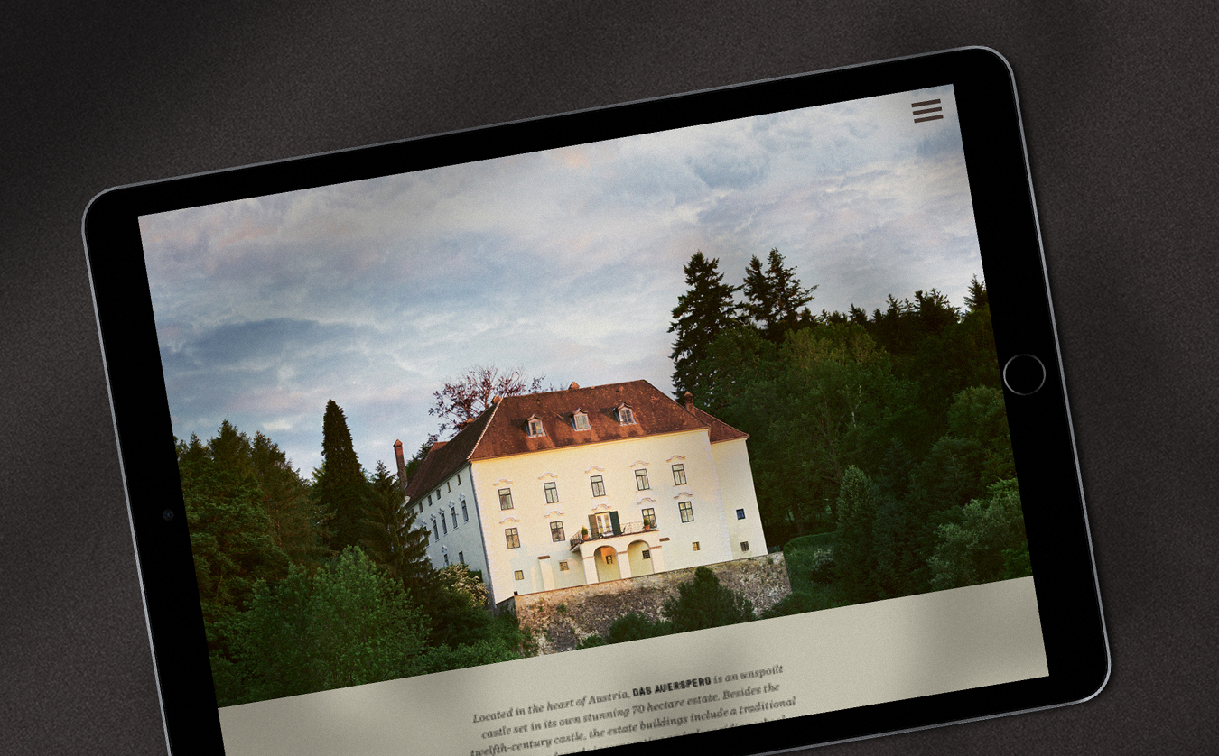 Auersperg ipad Design Website Digitalbranding Corporate Design Hofegger HofeggerBranding